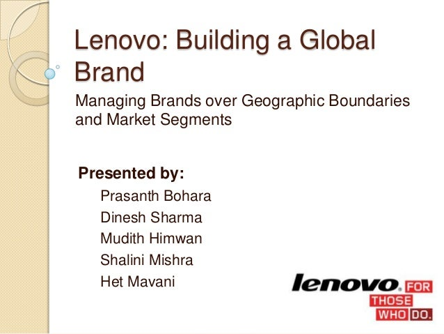 market segmentation for lenovo