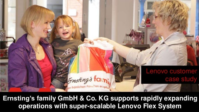 Lenovo customer case study Ernsting's family GmbH & Co. KG supports rapidly expanding operations with super-scalable Lenov...