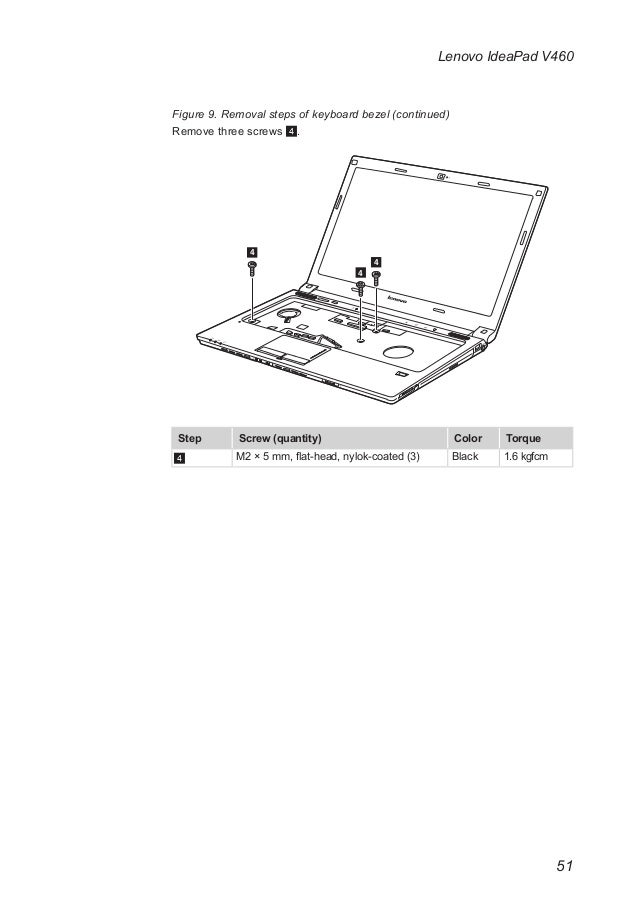 Lenovo idea pad v460 hardware mainenance manual