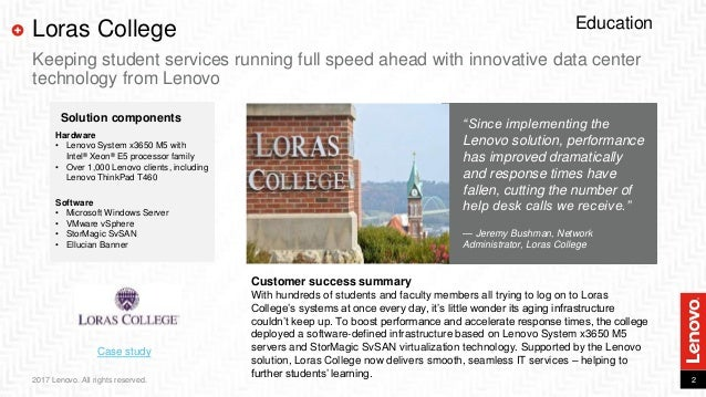 Loras College Keeps Student Services Running Full Speed Ahead With  Innovative Data Center Technology From Lenovo