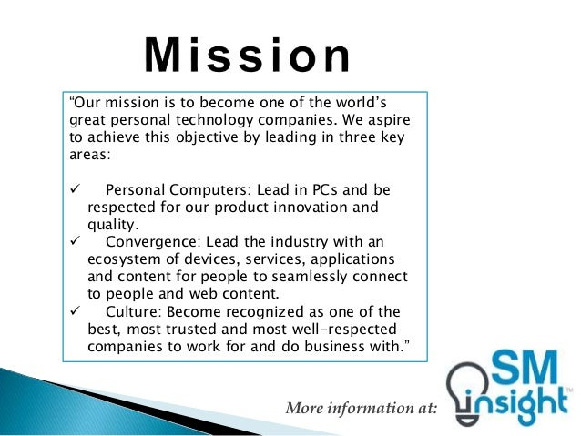 vision and mission sony Oberoi hotels & resorts is a result of the vision and mission of leaders who are constantly striving to make the best even better.