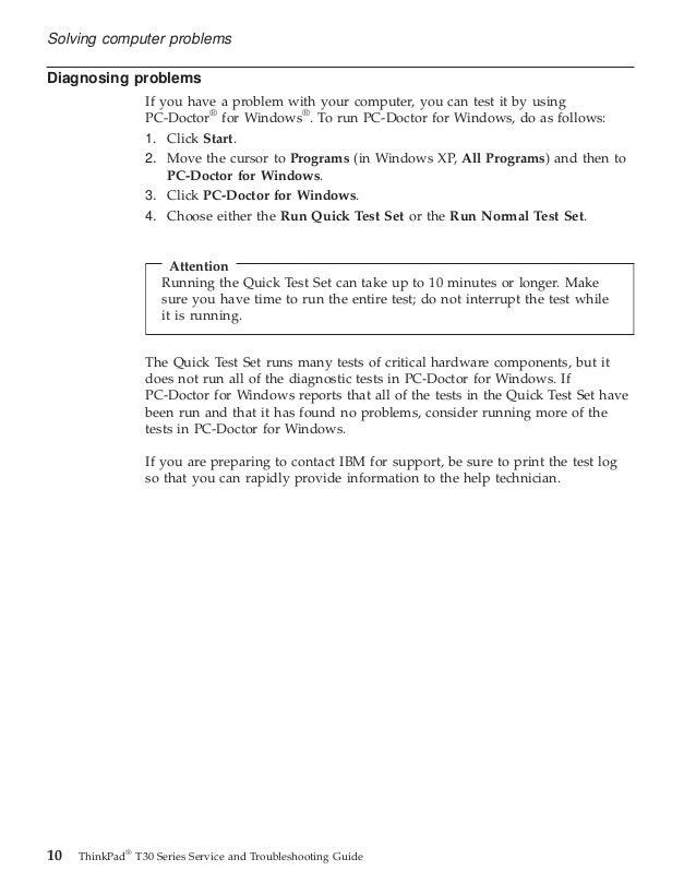 lenovo thinkpad t30 service guide rh slideshare net lenovo t400 troubleshooting guide lenovo t500 troubleshooting guide