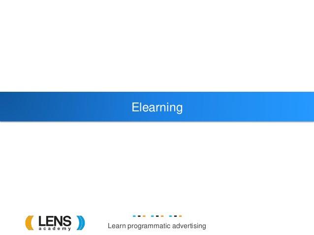 Learn programmatic advertising Elearning