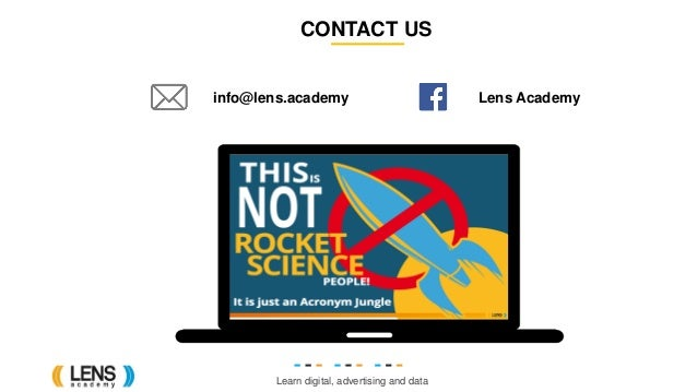 Learn digital, advertising and data CONTACT US info@lens.academy Lens Academy