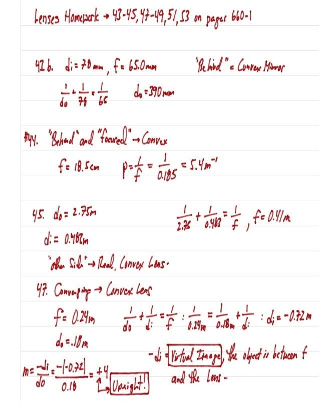 Lenses homework