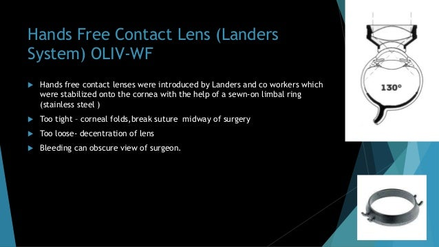Peyman-Wessels-Landers 132 D Upright Vitrectomy Lens  Wide field Upright images without invertor(Internalised prisms).  ...
