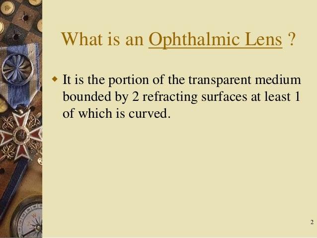Lens material and its propertes Slide 2