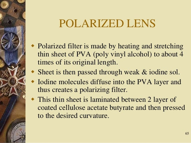 How polarized lenses are created