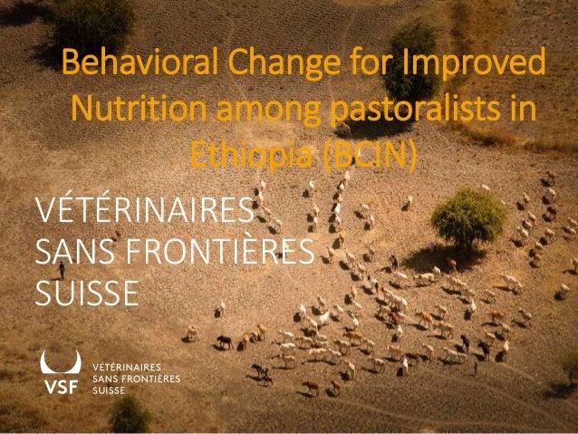 Behavioral Change for Improved Nutrition among pastoralists in Ethiopia (BCIN) VÉTÉRINAIRES SANS FRONTIÈRES SUISSE 1
