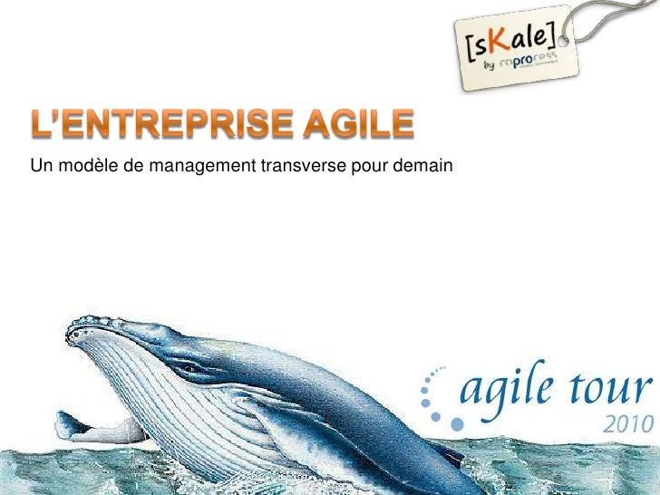 L'entreprise Agile<br />Un modèle de management transverse pour demain<br />