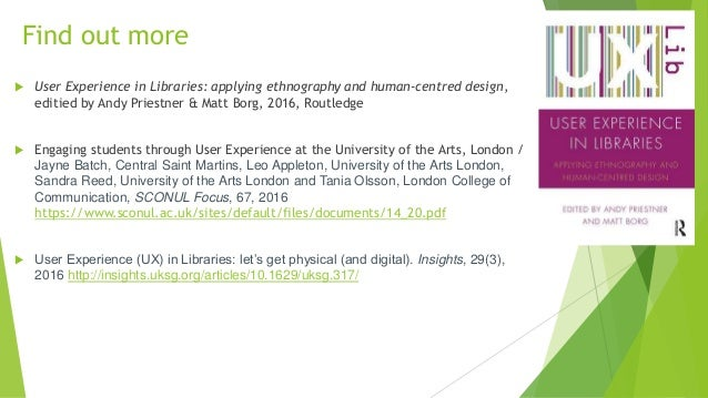 Exploring The User Experience Engaging Library Users Through Ux Tech
