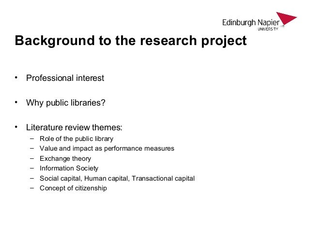 Value and impact of public libraries - Leo Appleton Northumbria July 2015 Slide 3