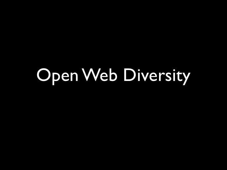 Open Web Diversity