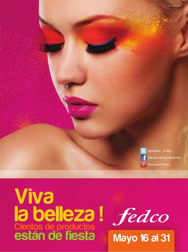 @tiendas _Fedco Facebook/tiendasfedco Pinterest/Fedco