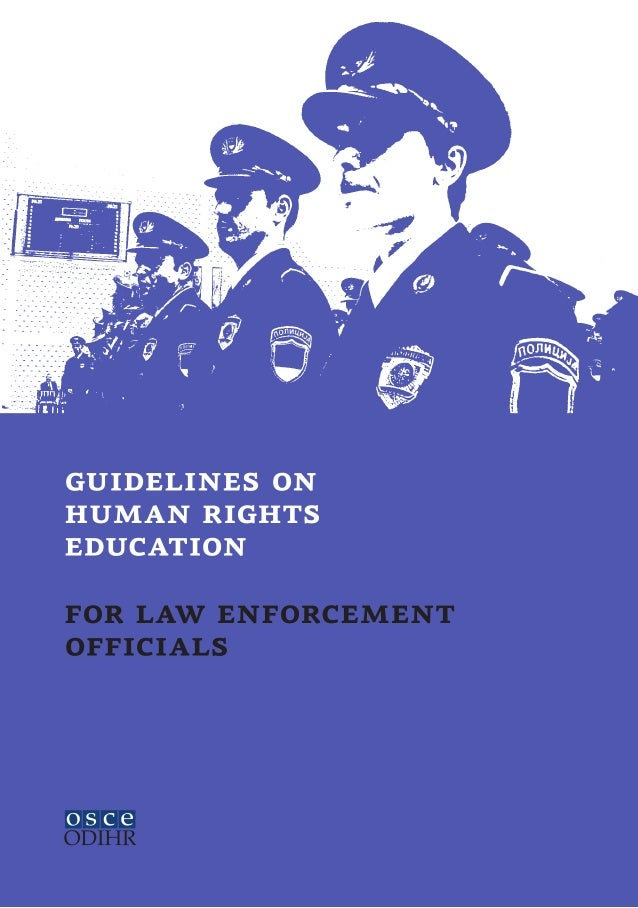 guidelines onhuman rightseducationfor law enforcementofficials