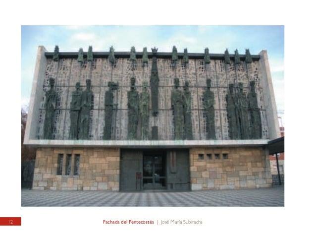 """SANTUARIO DE LA VIRGEN DEL CAMINO Fachada dedicada al """"Pentecostés""""  VIRGIN OF THE ROAD SANCTUARY Façade consecrated to th..."""