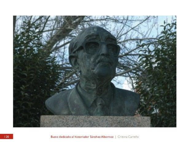 PARQUE FRENTE AL EDIFICIO DE CORREOS Busto dedicado al historiador Sánchez Albornoz  PARK IN FRONT OF THE POST OFFICE Bust...