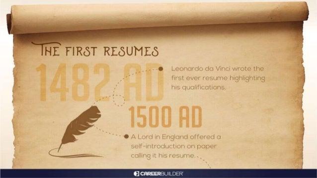 Leonardo da Vinci   Traces the Evolution of Resume   CareerBuilder India Slide 2