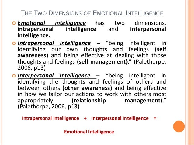 interpersonal and intrapersonal intelligence