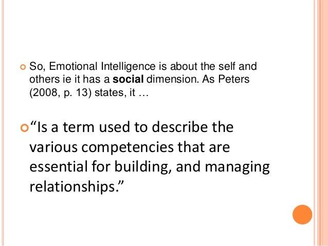 Interpersonal intelligence skills