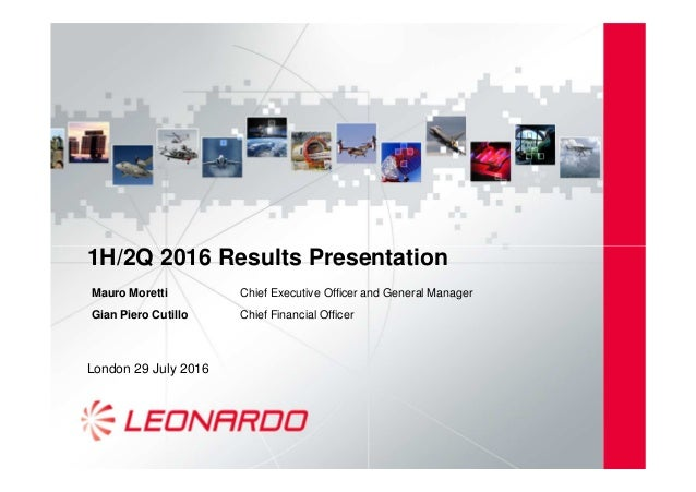 1H/2Q 2016 Results Presentation1H/2Q 2016 Results Presentation London 29 July 2016 Mauro Moretti Chief Executive Officer a...