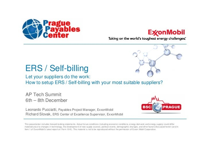 ERS / Self-billing Let your suppliers do the work: How to setup ERS / Self-billing with your most suitable suppliers? AP T...