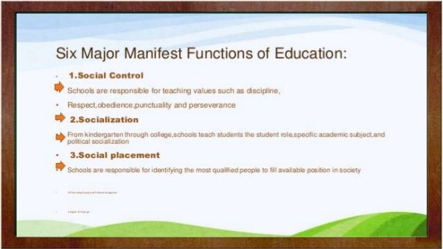 the function of education Management and administration in education: what do school heads  the decentralization of education functions if not well handled would end up with the.