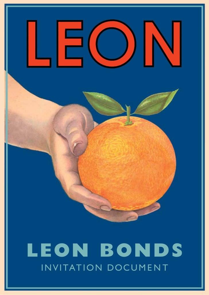 Leon BondsI n v i tat i o n D o c u m e n t