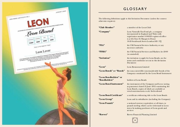 Leon bond invitation