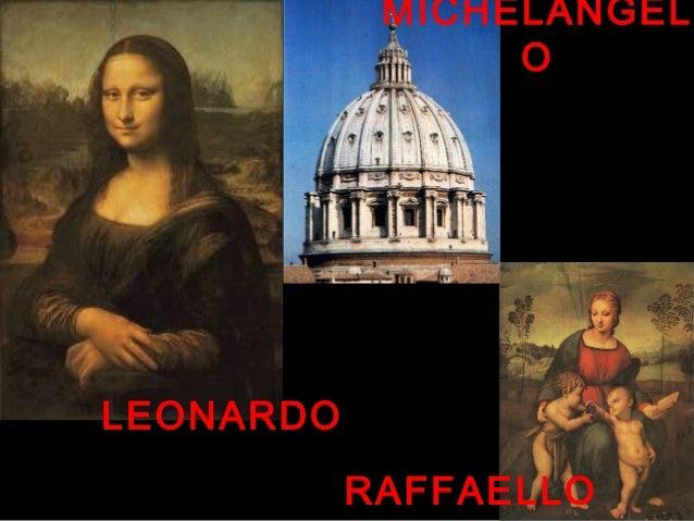 LEONARDO RAFFAELLO MICHELANGEL O
