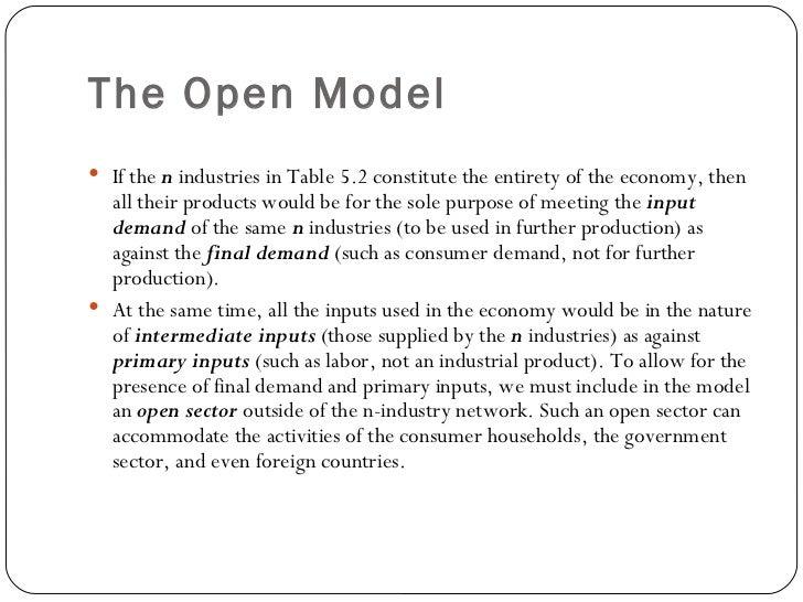 leontief input output model