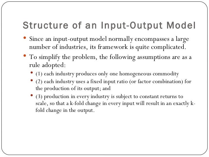 input output multiplier analysis for major industries This material covers the economic base model of a region and the in the format of leontieff's input-output analysis by major industry groups.