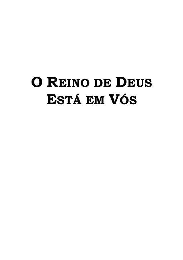 O REINO DE DEUSESTÁ EM VÓS