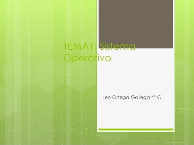 TEMA1: Sistema Operativo  Leo Ortega Gallega 4º C