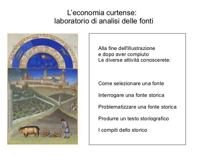 L'economia curtense:  laboratorio di analisi delle fonti