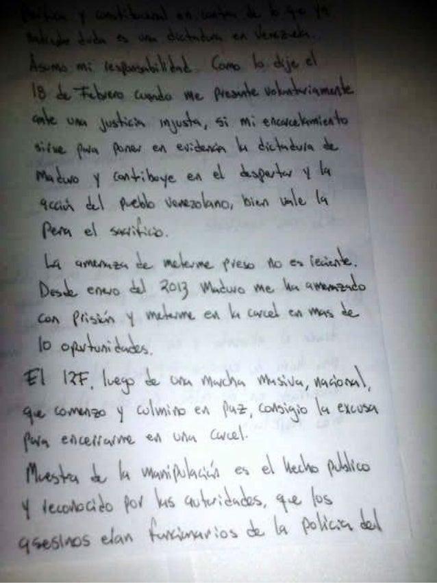 CNNEE Conclusiones: Carta con respuestas de Leopoldo López
