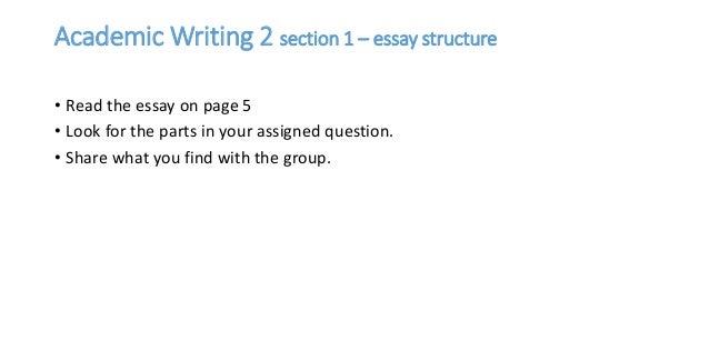 Academic writing essay organization
