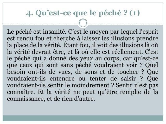 4. Qu'est-ce que le péché ? (1) Le péché est insanité. C'est le moyen par lequel l'esprit est rendu fou et cherche à laiss...