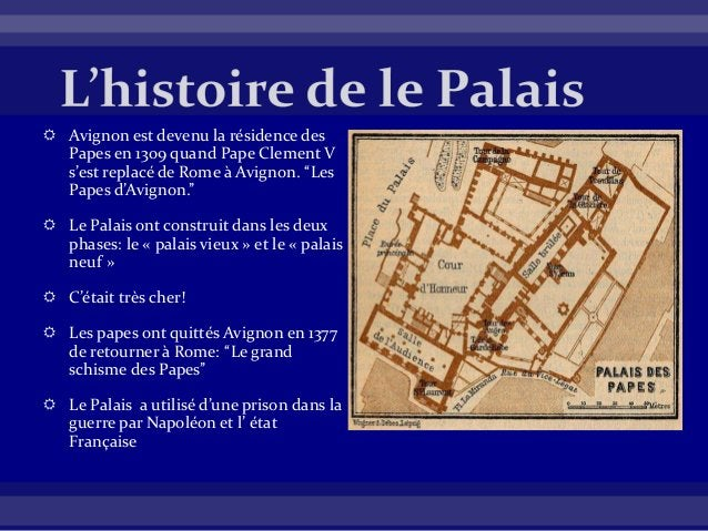 """ Avignon est devenu la résidence des Papes en 1309 quand Pape Clement V s'est replacé de Rome à Avignon. """"Les Papes d'Avi..."""