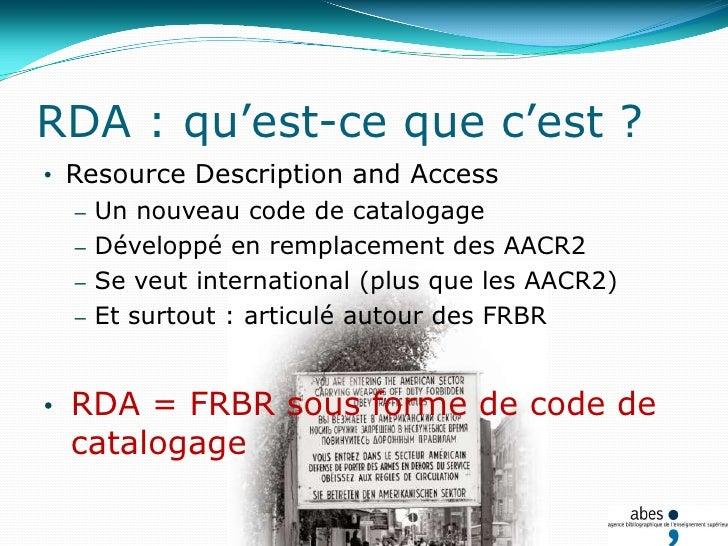 Point commun : la référence aux FRBR/FRAD…