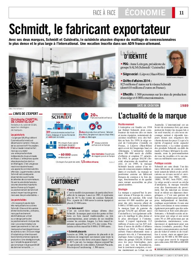 Le parisien economie 5 octobre 2015 l 39 avis de l 39 expert christop - Cuisinella paris 11 ...