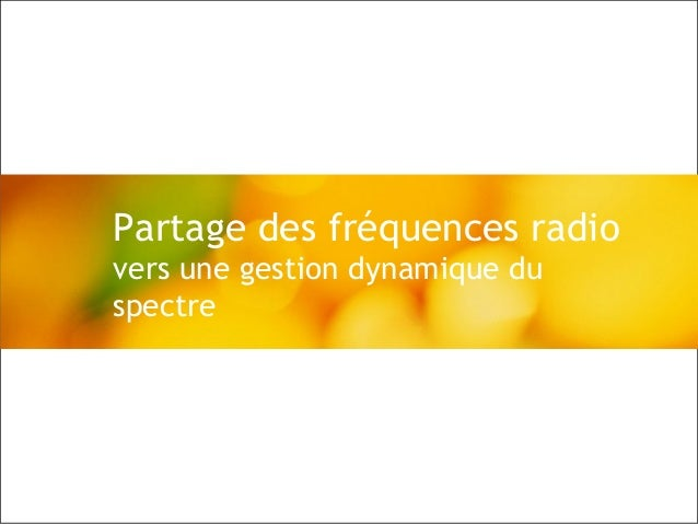 © Alcatel-Lucent 2008, d.r., 20081   Reporting 2008 May presentation - ABR / CH / JMG – May 2008 Partage des fréquences ra...