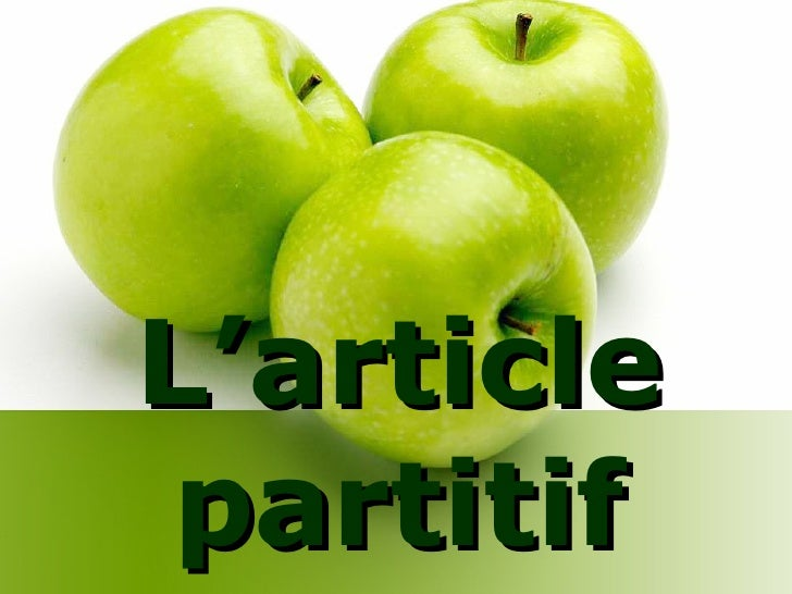 L'article partitif