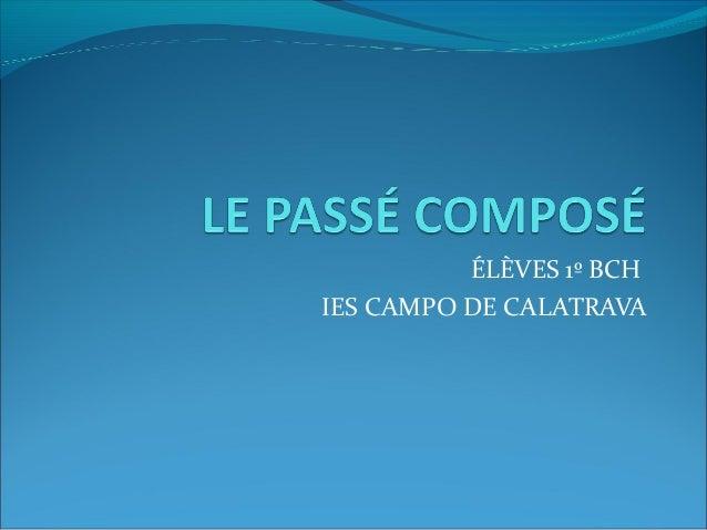 ÉLÈVES 1º BCH IES CAMPO DE CALATRAVA