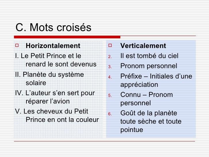 Le petit prince for Homonyme du mot farce