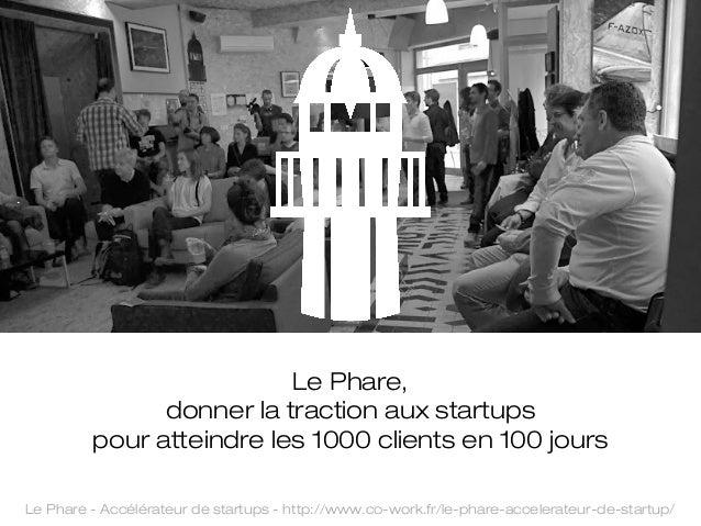 Le Phare, donner la traction aux startups pour atteindre les 1000 clients en 100 jours Le Phare - Accélérateur de startups...