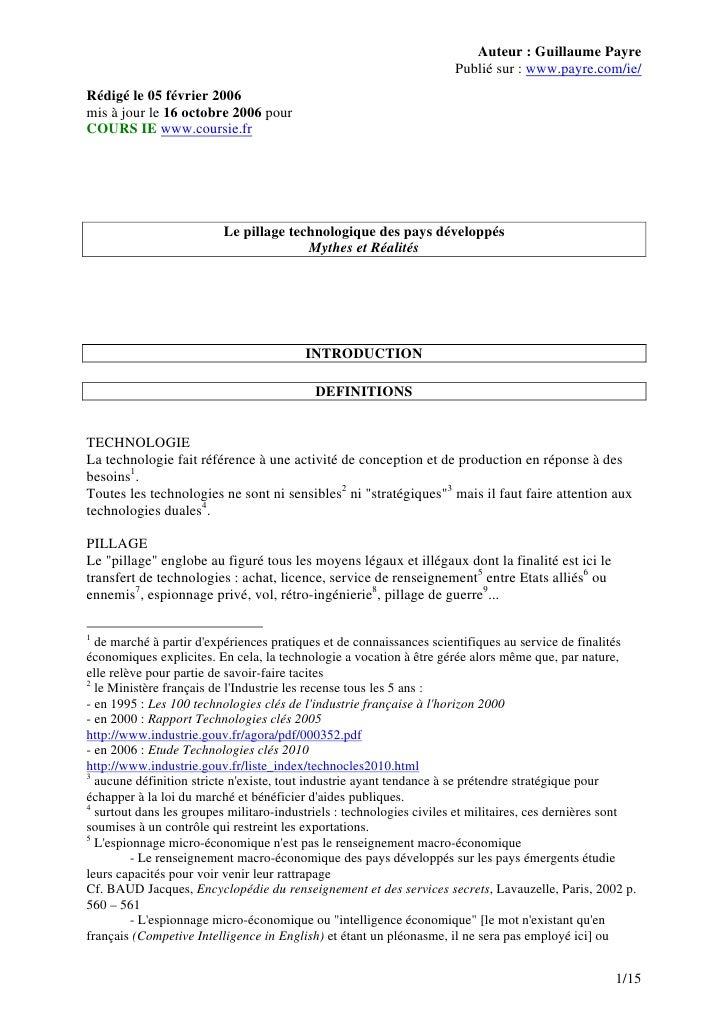 Auteur : Guillaume Payre                                                                     Publié sur : www.payre.com/ie...