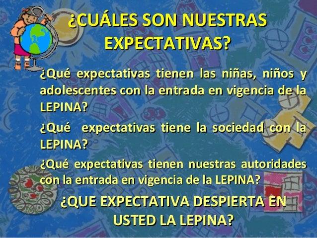¿CUÁLES SON NUESTRAS¿CUÁLES SON NUESTRAS EXPECTATIVAS?EXPECTATIVAS? ¿Qué expectativas tienen las niñas, niños y¿Qué expect...
