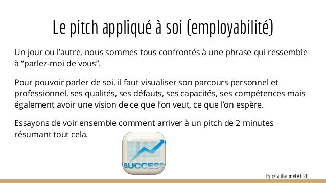 le pitch appliqu u00e9 au recrutement