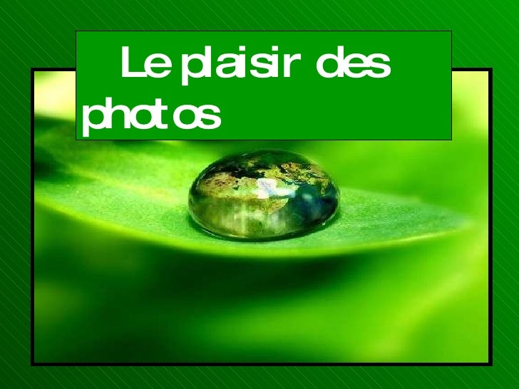 Le plaisir des photos